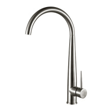 Single pole kitchen faucet