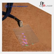 Hologramm-Vinyl-Kartentasche