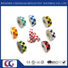 Cinta reflectante retra reflexiva del material reflexivo multi de la rejilla del color (C3500-G)