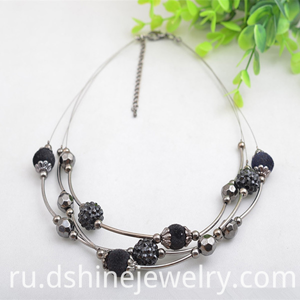 Multi Layers Real Shamballa Choker