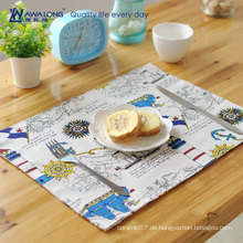 40 * 30 Stoff Leinen Cartoon Muster Design Tisch Matte für Tasse Platte