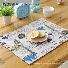 Tapis de table de design à motifs dessin animés 40 * 30 pour assiette de tasse