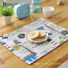 40 * 30 tecidos de linho cartoon padrão design mat tabela para placa de copo