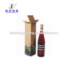 Boîte d'emballage solide de poignée de cadeau de boîte de vin de papier dur