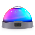 LED digital 7 color changing projection star alarm clock