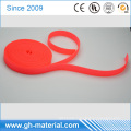 Manufacturer bright Orange color pvc coated nylon and polyester webbing