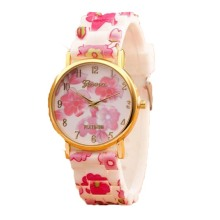 Girls Flower Silicone Wristband Watch