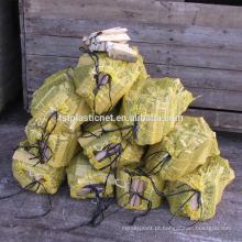 sacos de malha de plástico forte e barato para lenha com UV