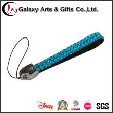 Cordón corto de cristal con cadena de teléfono móvil