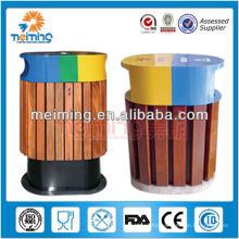 outdoor wooden waste bin