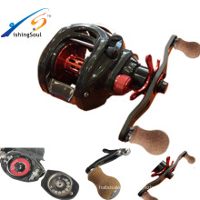 BCR100 полного сопротивления углерода ручки бас рыбалка baitcasting катушка приманки литья катушки двойной тормоз