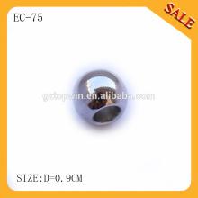 EC75 custom metal round string spring stopper,metal cord lock stopper