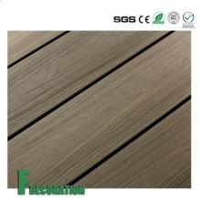 Decking exterior plástico de madeira impermeável do composto WPC da co-extrusão