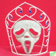 Couronne de masque de pierres à cristaux de fête
