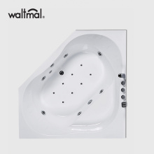 Corner Drop-in & Whirlpool Tub i Vit