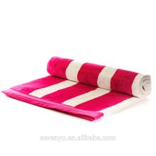 Ярко-розовый и белый полосатый египетского хлопка полотенце Бтт-017 фабрики Китая