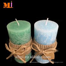 Опытный Поставщик домашнего использования светло-голубой ванильным ароматом Ассорти размеров в стиле кантри свечки Штендера дешевые оптом