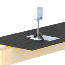 Toit solaire de toit de kit solaire de toit de bardeaux d'asphalte de bâti de panneau solaire