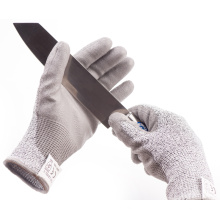 Level 5 Anti Proof HPPE Knitted PU Palms No-cut Gloves