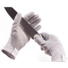 Уровень 5 Анти-доказательство ПЭВД трикотажные ПУ ладони без перчаток