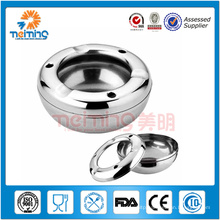 stainless steel ashtray,cigar round ashtray, smoking accessories