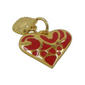 Mode Gold Herz mit Kitty Cat Charms
