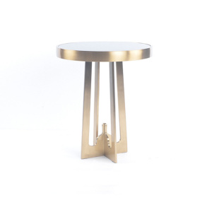 European-style originality black glass side table