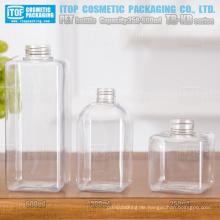 TB-KB-Serie 250ml 300ml und 600ml spezielle empfohlene Multi Nutzung heißer Verkäufer gute Qualität weht Quadrat pet-Kunststoff-Flasche