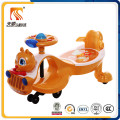New Design Cute Squirrel Head Baby Swing Car with Pulling Rope