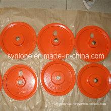 Roda de aço da polia da fundição de areia da fabricação