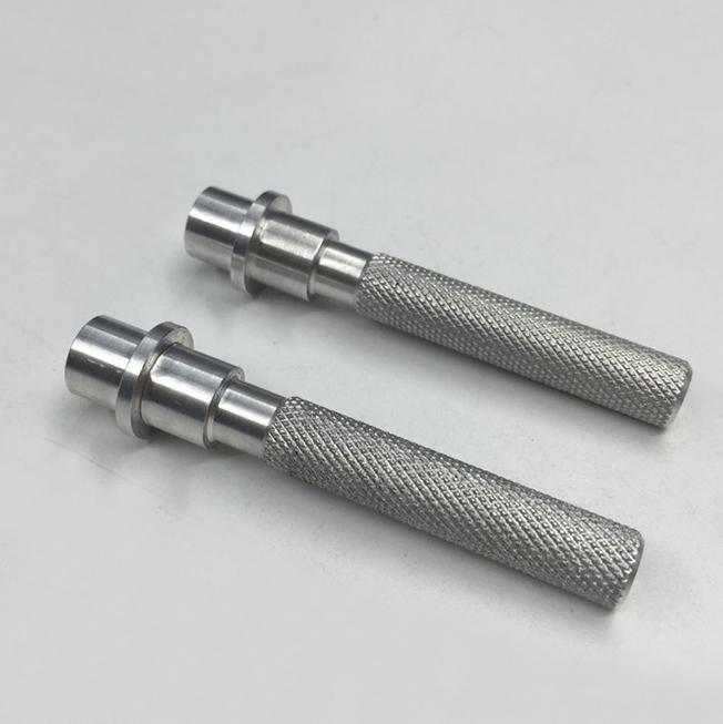 knurled aluminum parts