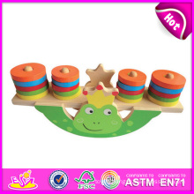 2014 New Wooden Balance Block Toys Animal Balance Game, Children Balance Game Toy, Hot Sale Wooden Baby Balance Game Set W11f013