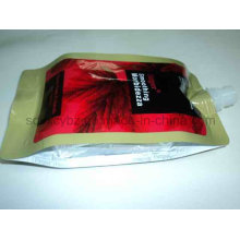 4-Side Sealing Plastic Packaging Bag with Spout