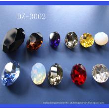 Pedras de vidro para a jóia, pedra de cristal para a decoração do vestuário