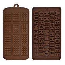 wholesale food grade cake decorations baking letters mould alphabet silicone mold for chocolate