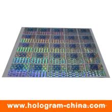 Anti-Fälschung 3D Laser Hologramm Aufkleber mit Siebdruck