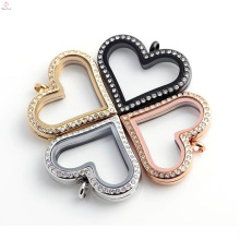 Wholesale stylish heart shaped charm locket pendant necklace jewelry