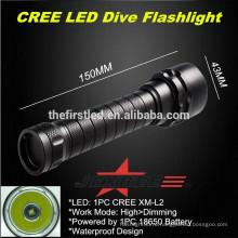 JEXREE 1XCREE XM-L2 светодиодный дайверский фонарик для подводного погружения