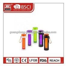 Kundenspezifische Logos Kunststoff Sport Flasche, Kunststoff Trinkflasche, Kunststoff-Sport-Wasserflasche