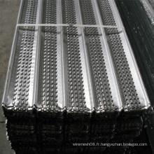 Maille en métal à nervures élevées galvanisées plongées chaudes