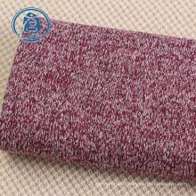 warm fleece 100% polyester sweater knit fabric