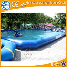 Piscina inflable grande del PVC, piscina inflable flotante del barco