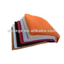 couvertures de lit de cachemire de couleur solide tissée de haute qualité