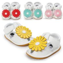 Nova Moda Bebê Meninas Flores Mole Sola Anti-Slip Sandálias Mocassins