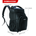 Insulated Cooler Backpack Leakproof Soft Cooler for Lunch, Picnic, Hiking, Beach, Park, 24Can, Black (HCC0040)