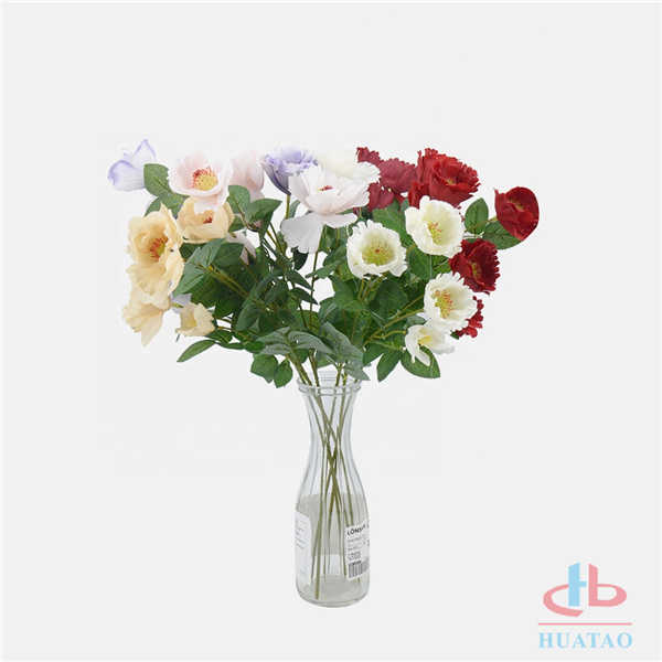 Wholesale-silk-papaver-rhoeas-wedding-table-artificial