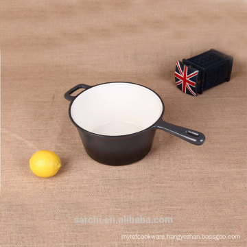 Enameled Cast Iron Large Saucepan ,Black