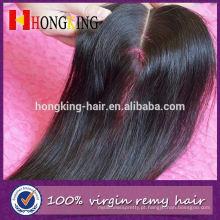 Fechamento dianteiro do laço da pele do cabelo do Virgin do fornecedor de China