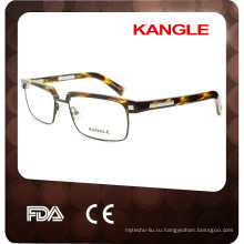 Новый черепаха самого верха стиль мужчины eyeglasses ацетата, ацетата в сочетании с металлические оправы