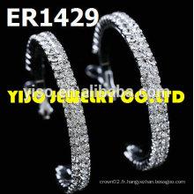 Boucles d'oreilles rondes en strass